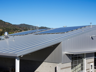 Insulated Metal Roofing Panels Speed Construction By Providing The Roof,  Insulation And Interior Finish In A Single Installation Step.