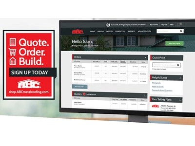 American Building Components Launches Online Ordering Website
