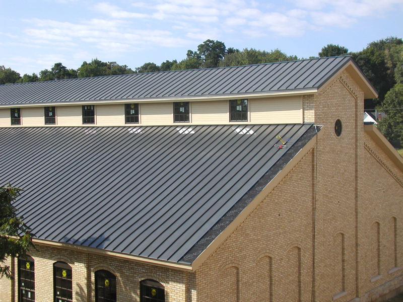 Above Is The 11 West Main Rehab Project In Carpentersville, IL. It Is  Topped With RHEINZINK Single Lock Standing Seam Roofing. Click Image To  Enlarge.