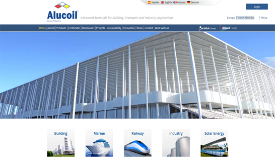 Alucoil-website