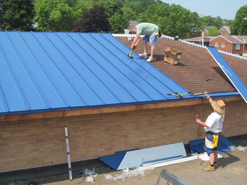 Cheap Tin Roofing McElroy Metal Offers Standing Seam System To Cover Asphalt ...