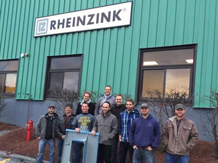 RHEINZINK-Training-workshop-group-pic