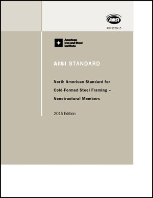 Aisi Publishes Cold Formed Steel Framing Standard For