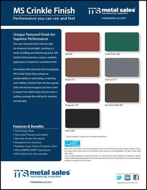 Reeds Metal Color Chart Brook
