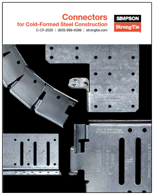 Simpson Strong Tie Introduces Expanded 2020 Catalog Of Connectors For Cold Formed Steel Construction